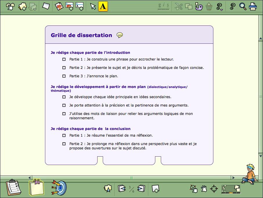 Hop! Étude - Un modèle de page lié au projet Dissertation